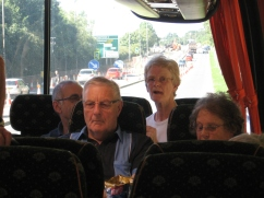 Passengers look concerned