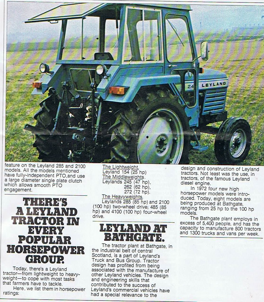 Leyland 262 Syncro Tractor Classic Connections