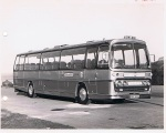 May 1970 - Front OS. Leyland 12M. World Cup Coach. Note tables & airport airside identification.